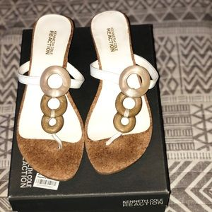 Kenneth Cole Reaction Sun Line small wedge sandal
